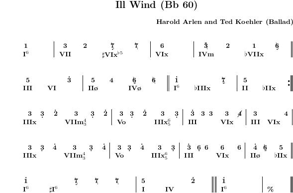 Jazz standards in rousseau notation ill wind invitation stopboris Gallery